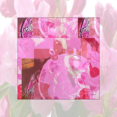 Collage Photograph - Pink Rhododendrons And Hearts by Gretchen Wrede