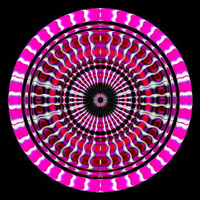 Pink Rings II Art Print by Visual Artist  Frank Bonilla