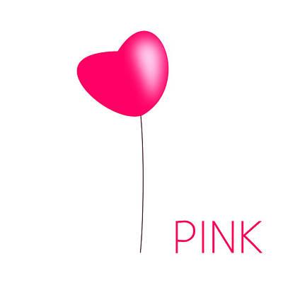 Balloon Flower Digital Art - Pink  by Robyn Safarian