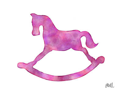 Painting - Pink Rocking Horse by Laura Bell