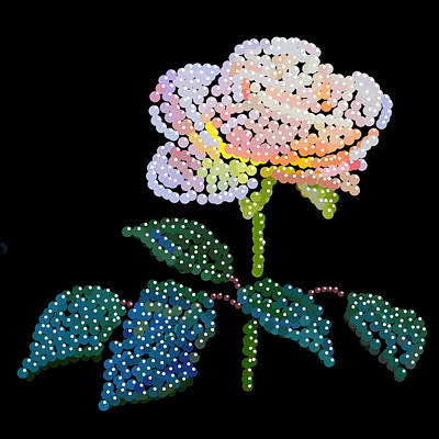 Digital Art - Pink Rose Bedazzled by R  Allen Swezey