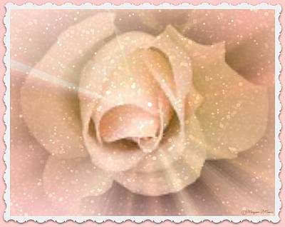 Painting - Pink Rose Blossom by Maryann  DAmico
