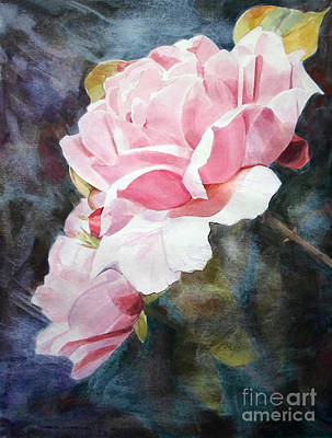 Painting - Pink Rose Caroline by Greta Corens