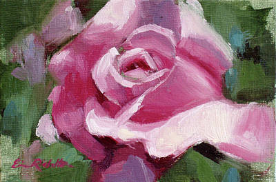 Painting - Pink Rose by Erin Rickelton