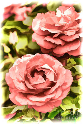 Painting - Pink Rose Flower Painting In Color 3226.02 by M K Miller