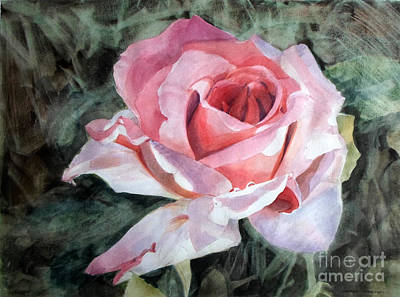 Painting - Pink Rose Greg by Greta Corens
