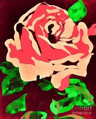 Painting - Pink Rose Impression by Saundra Myles