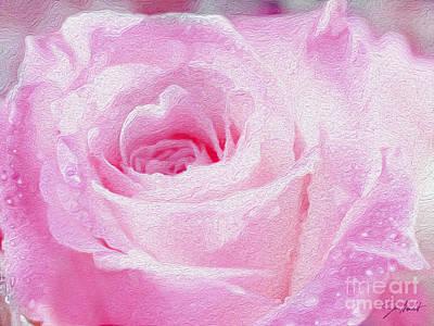 Pink Rose Art Print by Jon Neidert