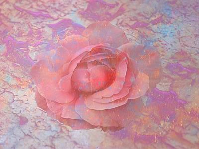 Digital Art - Pink Rose by Louis Ferreira