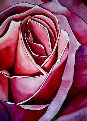 Pink Rose Macro Art Print by Sacha Grossel