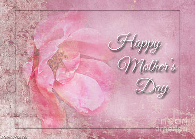 Photograph - Pink Rose Mothers Day Greeting Card by Debbie Portwood