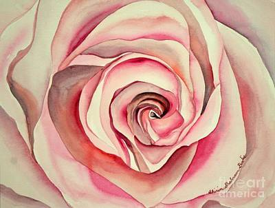 Art Print featuring the painting Pink Rose by Shirin Shahram Badie