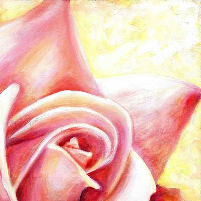 Pink Flower Painting - Pink Rose Two B by Linda Mears