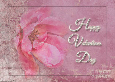 Photograph - Pink Rose Valentine Greeting Card by Debbie Portwood