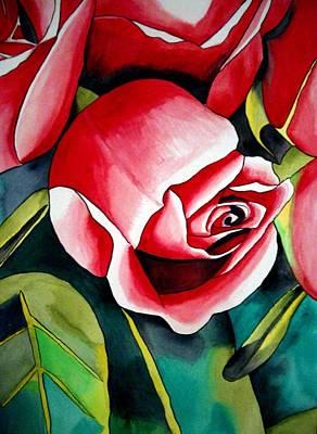 Pink Rosebud Art Print by Sacha Grossel