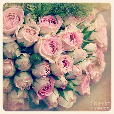 Snapshots Wall Art - Photograph - Pink Rosebuds Old Photo by Jane Rix