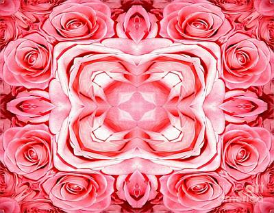 Photograph - Pink Roses Abstract by Rose Santuci-Sofranko