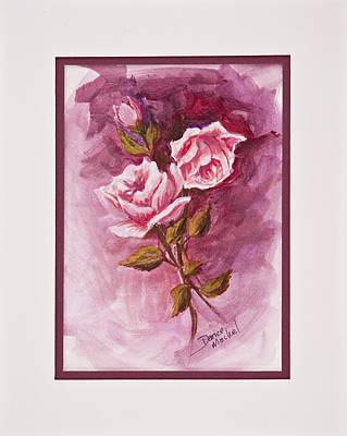 Painting - Pink Roses by Darice Machel McGuire
