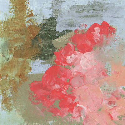 Wall Art - Painting - Pink Roses I by Sarah Ogren