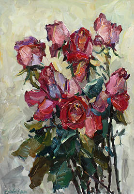 Painting - Pink Roses by Juliya Zhukova