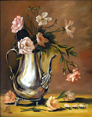 Painting - Pink Roses by Nancy Bradley