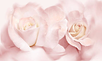 Photograph - Pink Roses Romance by Jennie Marie Schell