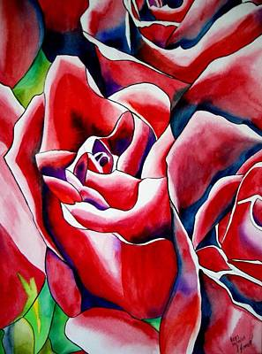Pink Roses Art Print by Sacha Grossel