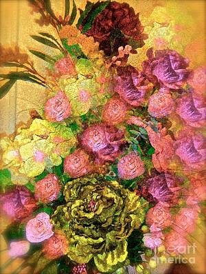 Painting - Pink Roses Vintage And Shabby Chic Impression by Saundra Myles