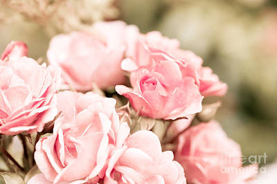 Rosaceae Photograph - Vintage Roses Bouquet Sepia Toned Flowers Bunch  by Arletta Cwalina