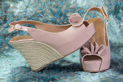 Photograph - Pink Sandal Wedge Still Life by Patti Deters