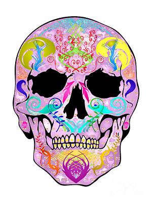 Pink Skull Art Print by Mauro Celotti
