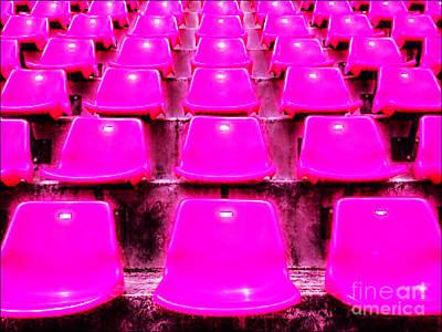 Pink Seats Art Print by Michael Knight