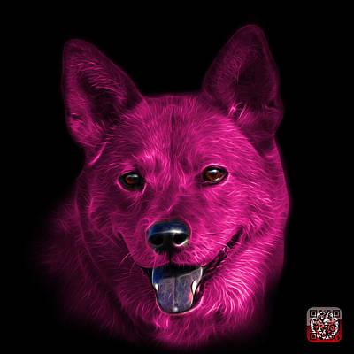 Mixed Media - Pink Shiba Inu Dog Art - 8555 - Bb by James Ahn