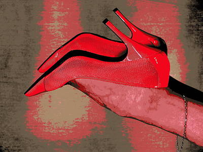 Photograph - Pink Shoes by Guy Pettingell