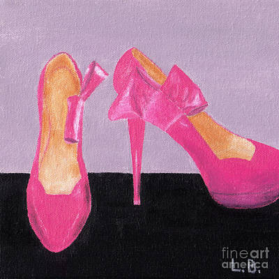 Painting - Pink Shoes by Laurel Best