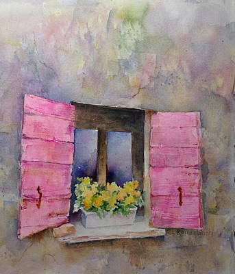 Painting - Pink Shutters by Cynthia Roudebush