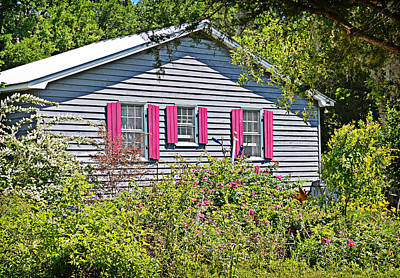 Photograph - Pink Shutters by Linda Brown