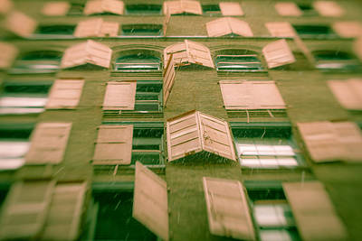 Art Print featuring the photograph Pink Shutters by Takeshi Okada