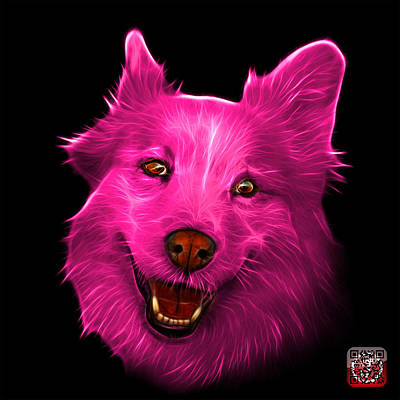 Mixed Labrador Retriever Painting - Pink Siberian Husky Mix Dog Pop Art - 5060 Bb by James Ahn