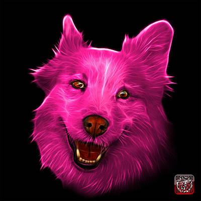 Painting - Pink Siberian Husky Mix Dog Pop Art - 5060 Bb by James Ahn