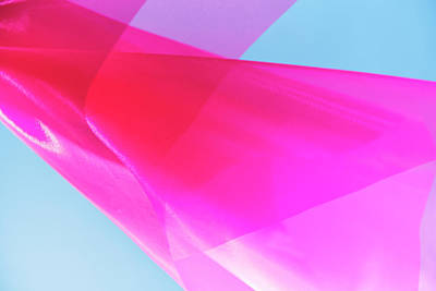 Photograph - Pink Silk In Wind Against Bright Sky by Gm Stock Films