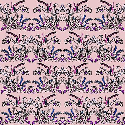 Abstract Digital Mixed Media - Pink Slut by Sumit Mehndiratta