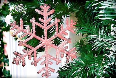 Photograph - Pink Snowflake by Audreen Gieger