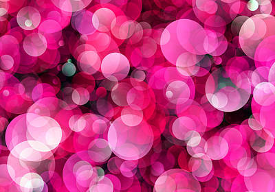 Soap Bubbles Digital Art - Pink Soap Bubbles by Daniel Hagerman