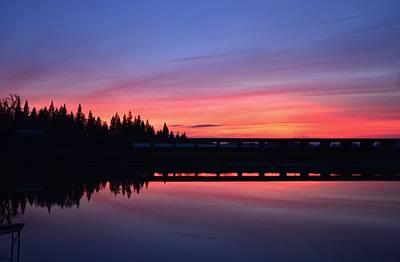 Photograph - Pink Splash Sunset by Marilyn MacCrakin