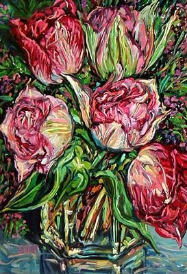 Pink Spring Tulips Art Print by Melissa Sarat