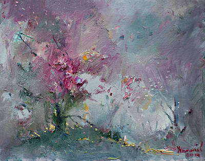 Pink Tree Wall Art - Painting - Pink Spring by Ylli Haruni