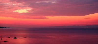 Pink Sunrise  Art Print by Leyla Ismet