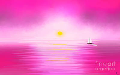 Painting - Pink Sunset by Anita Lewis