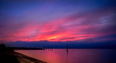 Beach Photograph - Pink Sunset by Eva Kondzialkiewicz